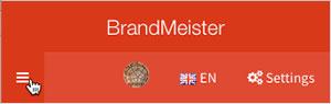 BrandMeister Hamburger button